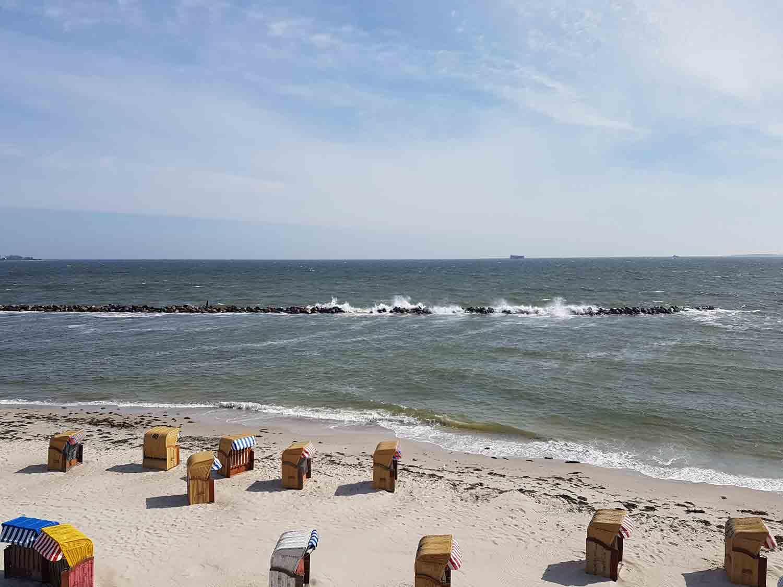 Strand bei Ostwind